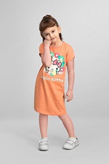 Hello Kitty Hello Kitty Lisanslı Yavruağzı Kız Çocuk Gecelik Pembe